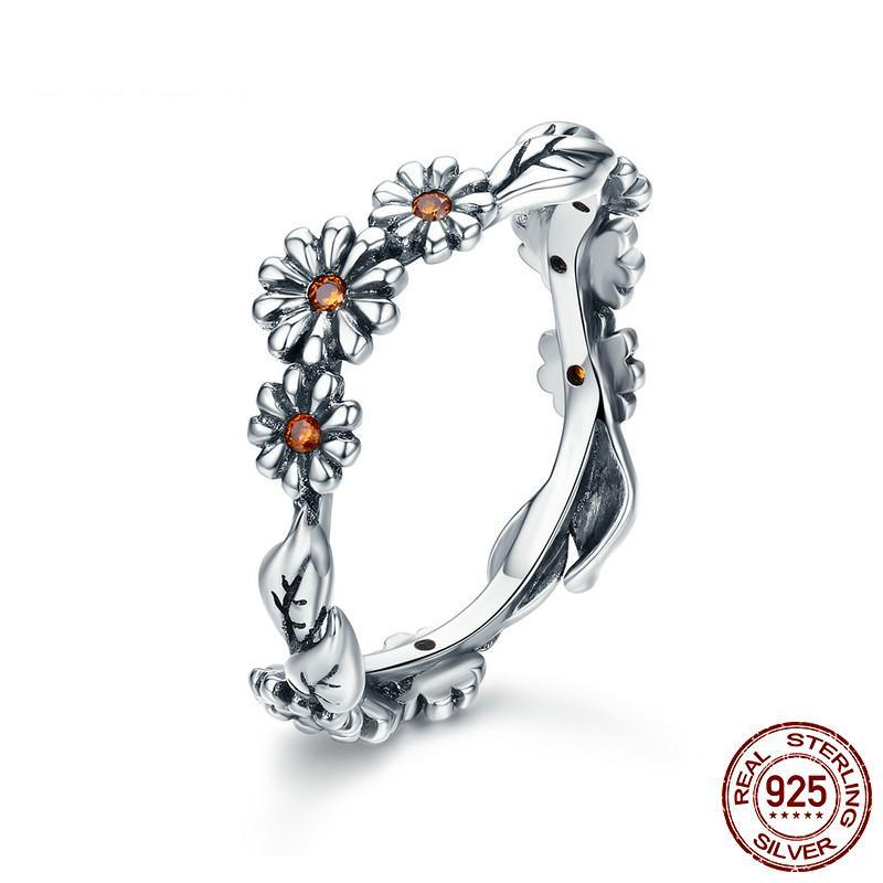 Twisted Daisy Flower Ring