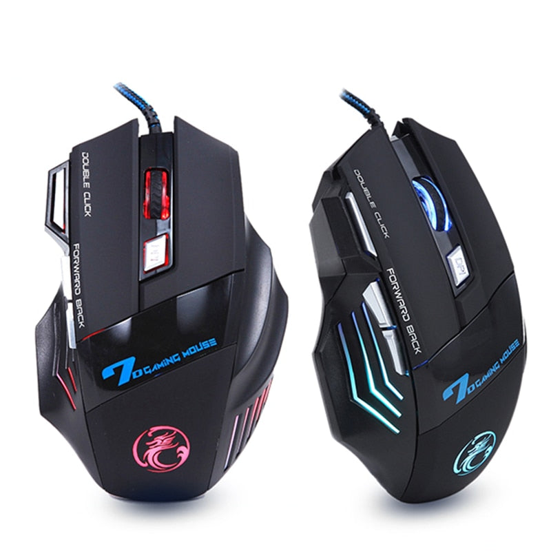 Professional Gamer Wired 7 Button 5500 DPI LED Optical USB Gaming Mouse