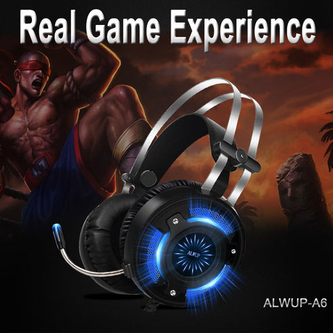 Wired Gaming Color Changing Led HD Bass USB Headphones  with Microphone
