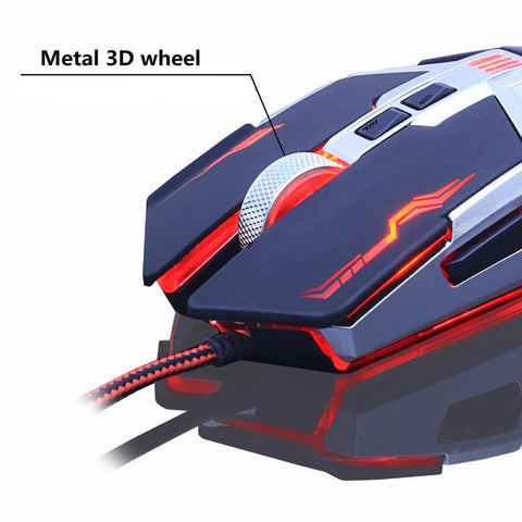 Pro Gamer DPI Adjustable USB Optical LED Gaming Mouse