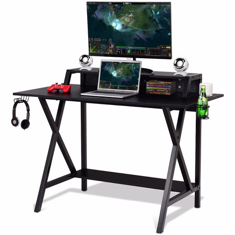 Pro Gaming Desk All-In-One Cup Headphone Holder Power Strip Gamer Desk