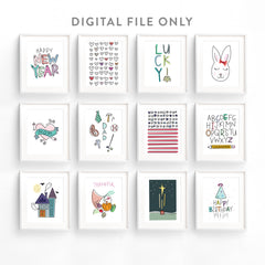 Holiday Art Set *Digital Download*