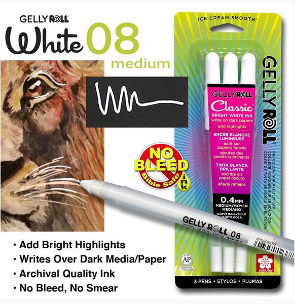 White Gelly Roll Pen(3pk)