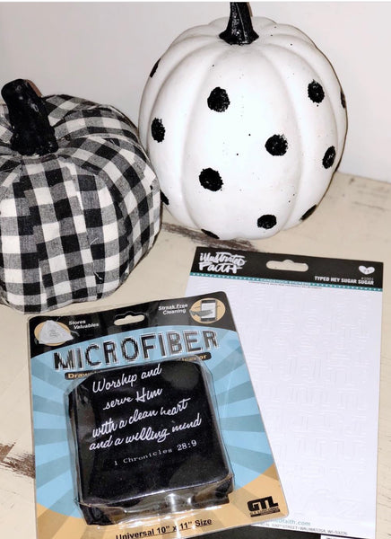 Black/White Microfiber Bag