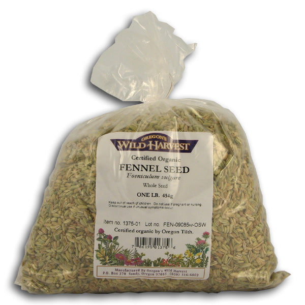 Fennel Seeds, Whole, Organic