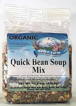 Azure Farm Quick Bean Soup Mix Organic - 15.2 ozs.