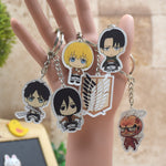 Attack on Titan Shingeki no Kyojin  Acrylic Keychain Action Figure Pendant Key Ring
