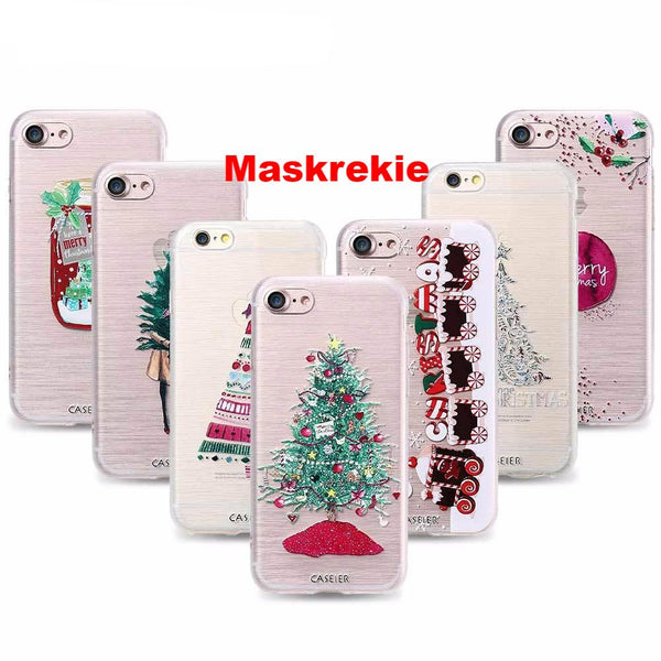 Christmas Special APPLE iPhone 7 8  PLUS Soft TPU Ultra-thin Christmas Theme Phone Cover Case