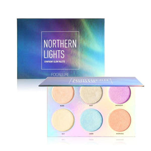 Northern Lights Symphony Glow Palette Makeup Glitter Shimmer Bronzer Highlighter Powder Makeup Eyes Makeup Highlighter/shimmer/blusher