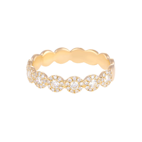 Let It Shine- Circle 14k Gold and Diamond Ring- Lola James Jewelry