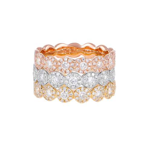 Let It Shine- Circle 14k Gold Stack Diamond Ring- Lola James Jewelry