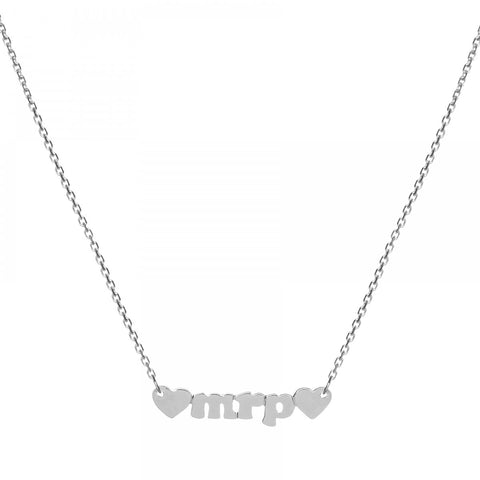 Mini Me- 14k White Gold Personalized Custom Necklace- Lola James Jewelry