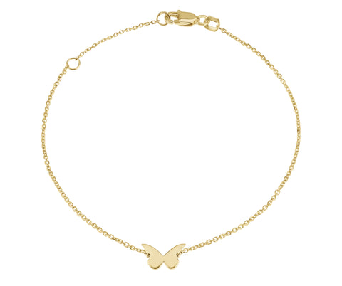 Flutter- 14K Butterfly Bracelet- Lola James Jewelry