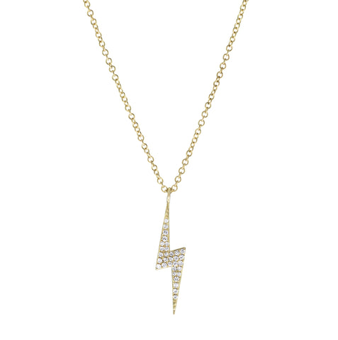 Bolt- Diamond Lightening Bolt Necklace- Lola James Jewelry
