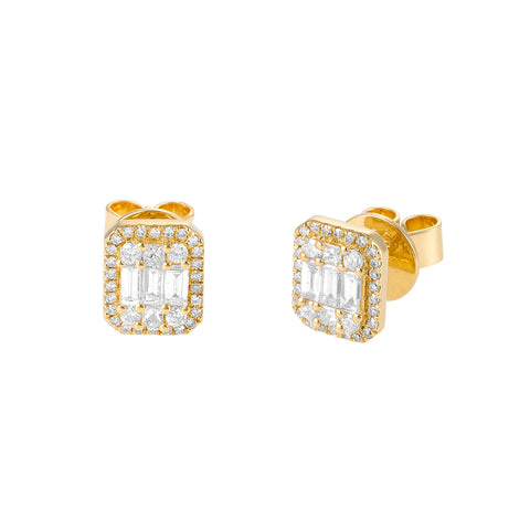 Baguette Me Not- Baguette Stud Diamond Earrings- Lola James Jewelry
