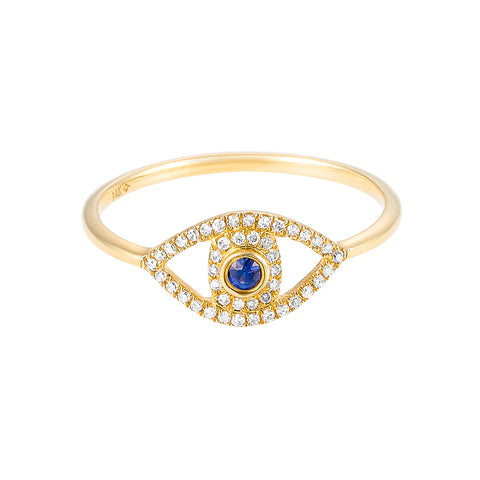 Eye See You- Diamond Sapphire Eye Ring- Lola James Jewelry