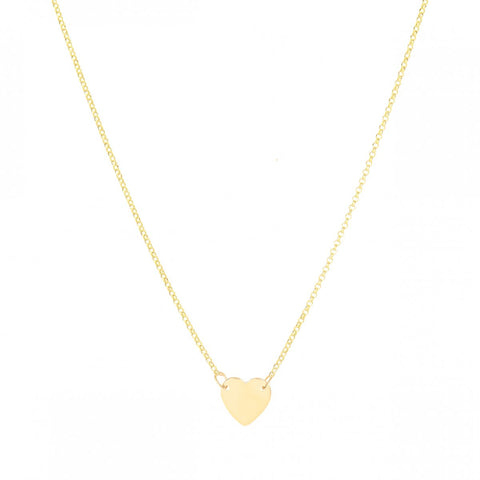 Fall In Love- 14K Gold Heart Necklace- Lola James Jewelry