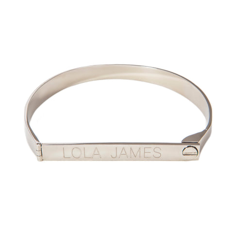 Lock It Up- Stainless Steel Silver Lock Bracelet- Lola James Jewelry