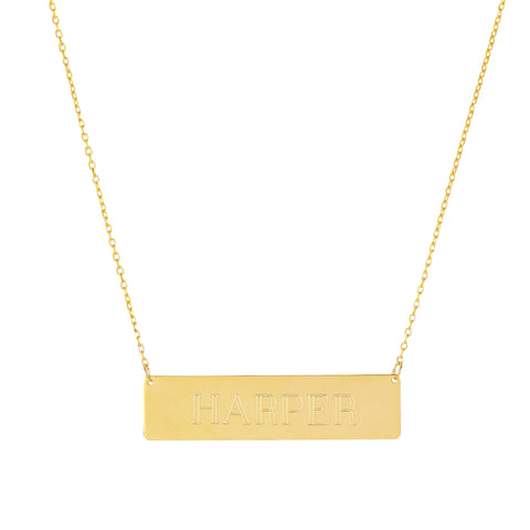 Alter Ego- 14K Gold Nameplate Necklace- Lola James Jewelry