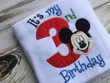 Mickey Mouse It's My 3rd birthday shirt