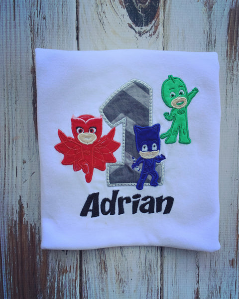 PJ Masks Birthday shirt