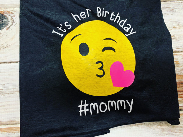 Mom Emoji Birthday Shirt, It's her birthday shirt
