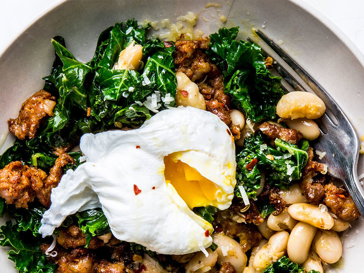 Easy Sausage White Bean Kale Dinner