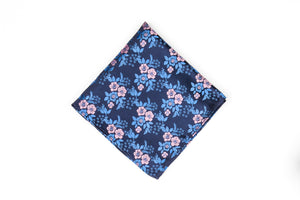 Silk Pocket Squares - Pink Flower
