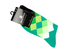 Socks - Green Diamond/Argyle Pattern