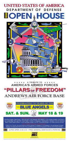 Andrews AFB Department of Defense Joint Service Open House 1996 Poster