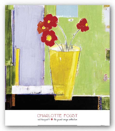 Red Bouquet I by Charlotte Foust