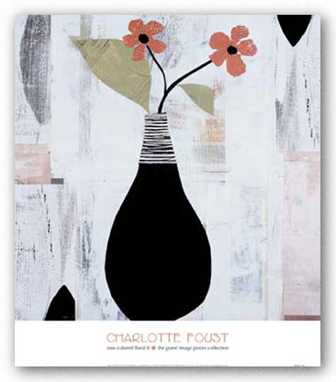Rose Colored Floral II by Charlotte Foust