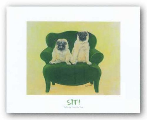 Katie and Daisy the Pugs by Carol Dillon
