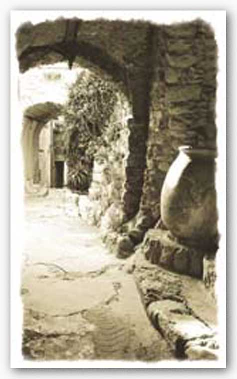 Archway and Stone Jar by Chauve Auckenthaler