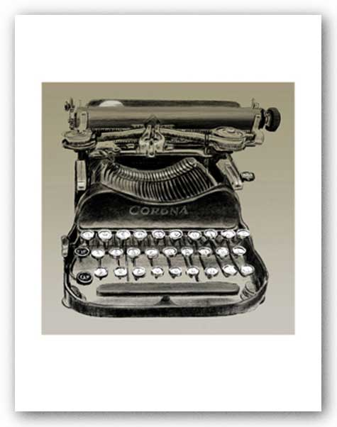 Vintage Typewriter, Corona - Signed Giclee - This is not an actual typewriter by Clifford Faust