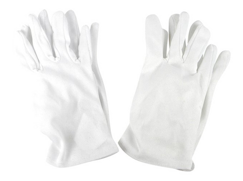 Girl's Short White Dress Up Gloves