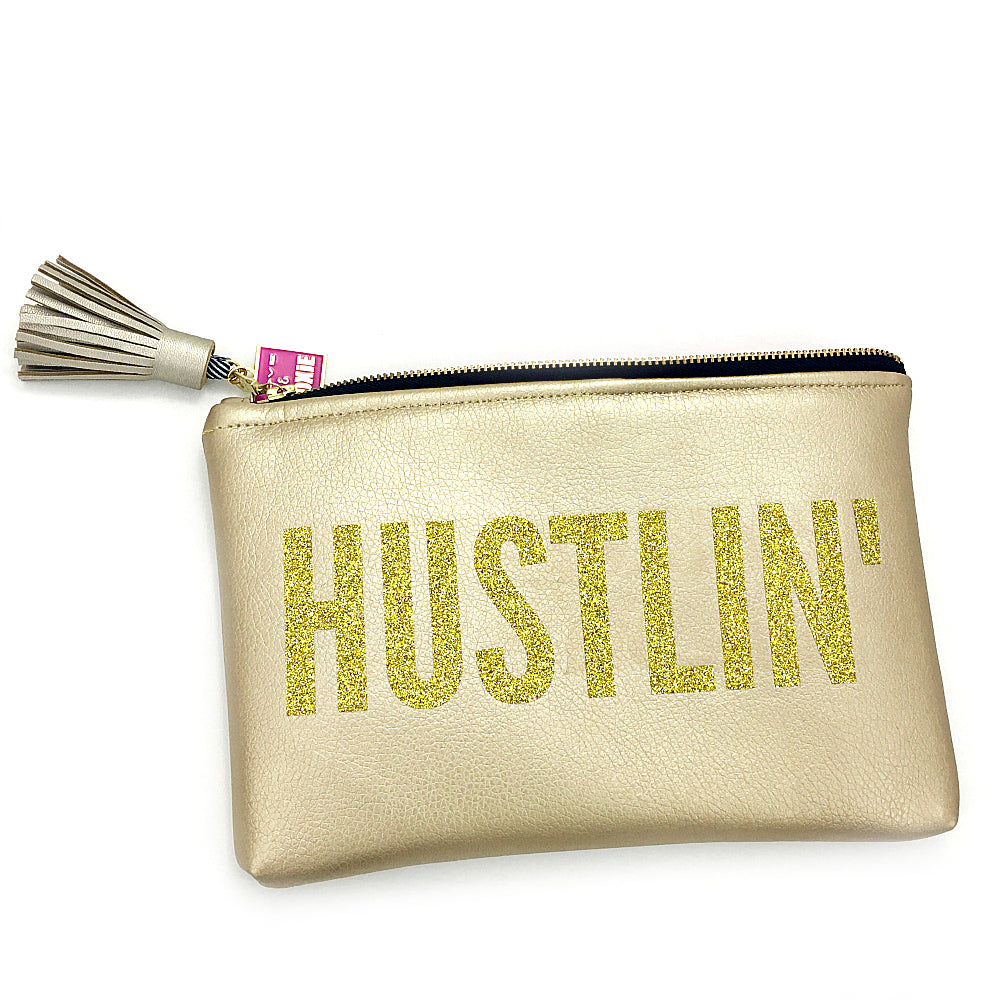 gold hustlin bag