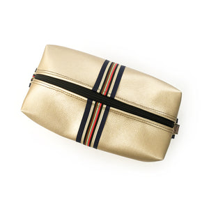 Ainsley Striped Gold Biggi Travel Bag