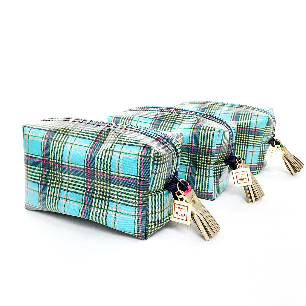 plaid boxy bag