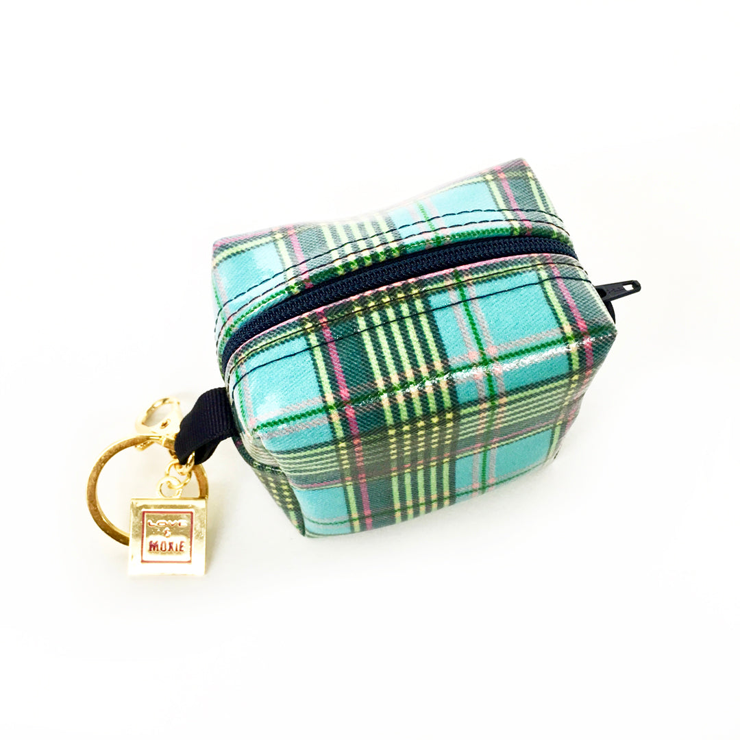 plaid change purse