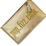 pop fizz click party clutch bag