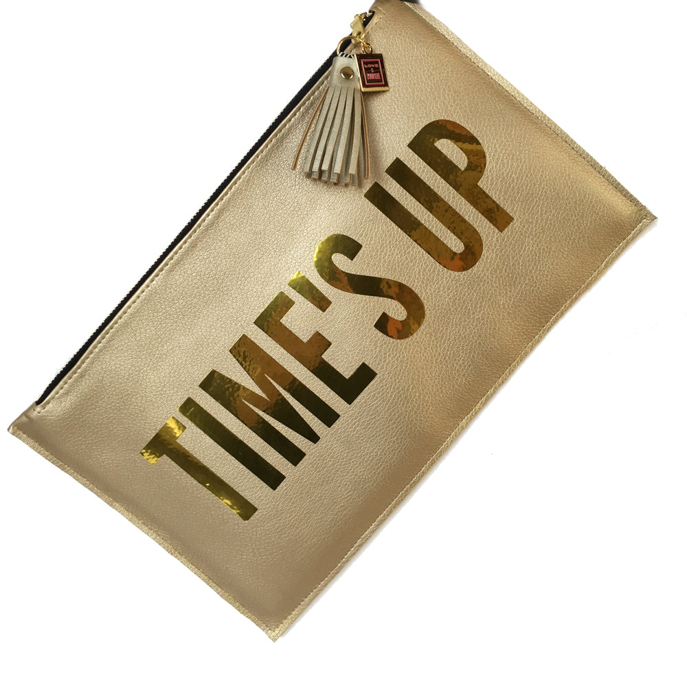 times up clutch bag
