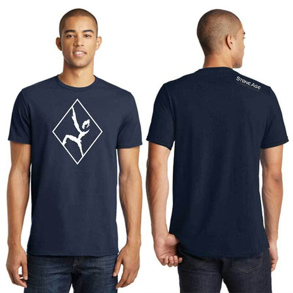 Men's navy outlined climber t shirt