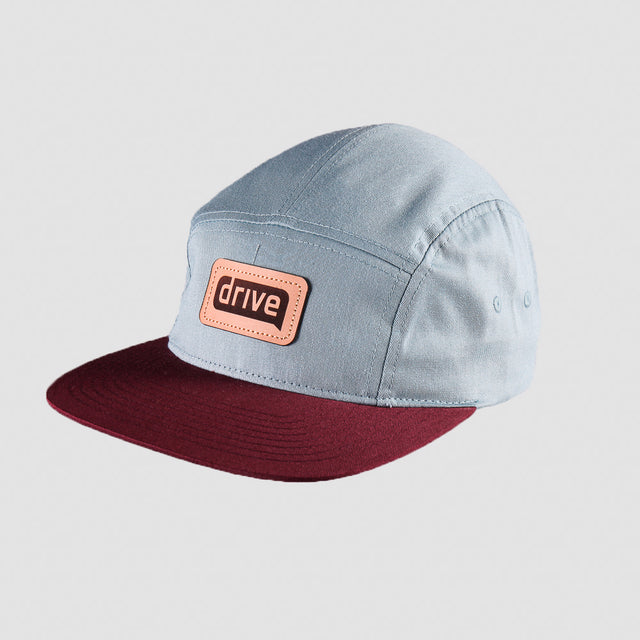 Five Panel Leather Patch Hat