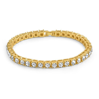 1 Row Bling Bling Tennis Bracelet Gold