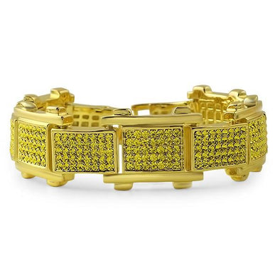 Lemonade Bike Link Hip Hop Bracelet