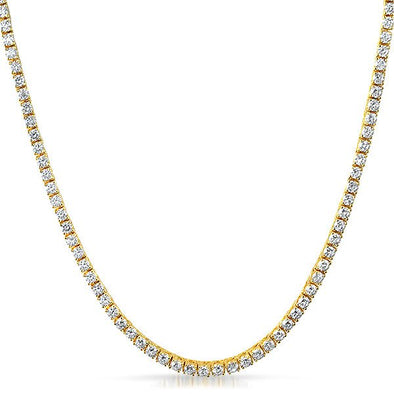 3MM 1 Row CZ Gold Tennis Chain