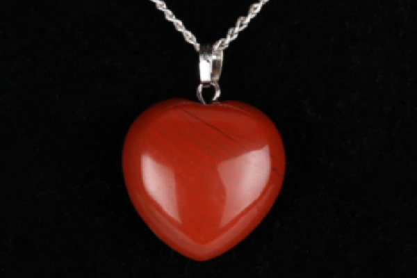 Collection Youth - Pendentif coeur Jaspe Rouge