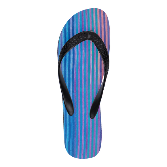 Faded Stripe Flip Flops