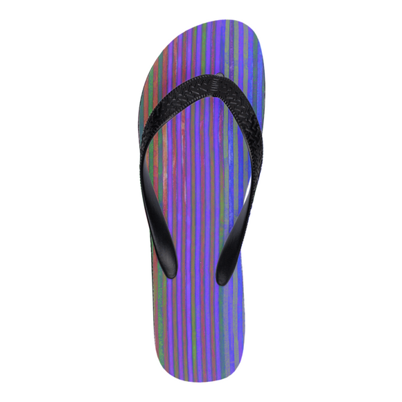 Moonerized Striped Flip Flops